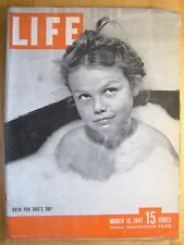 Life Magazine March 10 1947  Bath for Dad's Day Babe Ruth Siamese Twins
