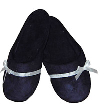 bSoft Slip on Slippers With Rubber Sole, Navy Small 6-6.5 - New