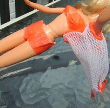 Vintage Barbie Doll TNT Swimsuit Orange Bikini Cover Up 1967 #1160 #1162
