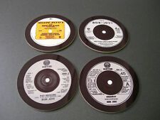 Bon Jovi Singles Sammlung 45 Groß Neu Getränke Untersetzer Set
