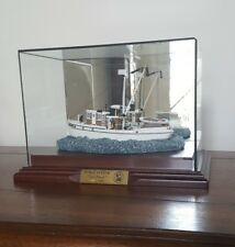 "Harbour Lights Anchor Bay Nautical Boat Figurine ""Tori Dawn"" w/Base and Glass"