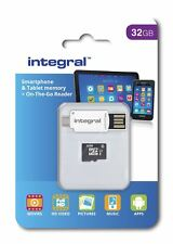 32 Gb Teléfono Inteligente & Tableta microSDHC UHS-I Clase 10 Memorycard & USB OTG Lector.