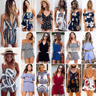 Womens Ladies Party Club Beach Sun Dress Playsuit Rompers Casual Jumpsuit Shorts