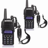 2Pack Baofeng UV-82L 2m/70cm Band VHF UHF FM Ham Two-way Radio Walkie Talkie