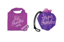 Best Grandma Ever Purple Reusable Foldable Tote Fits In Purse Mother's Day Gift
