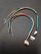 Mini Micro JST 1.25MM 1.27MM 5pin Connector plug with Wires Cables 2 Sets