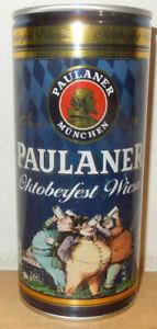 PAULANER OTOBERFEST Steel Beer can from GERMANY (1 Liter) Empty !