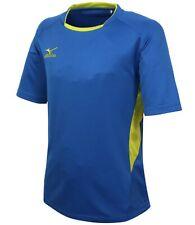 Mizuno Men Lagrang Game S/S T-Shirts Jersey Training Blue Top Shirt P2Ma7K0126