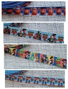 Toy Story 4 Grosgrain Printed Character Ribbon 15mm Width Buzz Light Year Woody