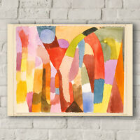 Paul Klee: Movement of Vaulted Chambers. Canvas Art Print