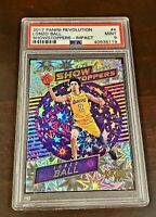 Lonzo Ball 2017-18 Panini Revolution Showstoppers Impact Rookie RC PSA 9 Mint