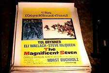 MAGNIFICENT SEVEN ORIG MOVIE POSTER 1960 LINEN STEVE MCQUEEN CHARLES BRONSON