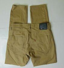 Levi's 511 Men's 32 X 32 Slim Fit Khaki Pants Beige Cotton Casual Stretch Tan