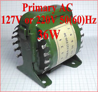 Anodic filament transformer type TAN-8 primary AC 127V or 220V 50Hz or 60Hz 36W
