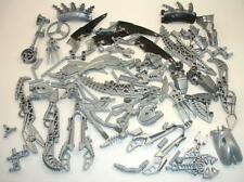 Lego Lot Bionicle Parts Joints Body Arm Claw Foot Grey/Silver with Black