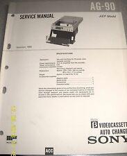 SONY AG-90 Beta Videocassette Auto Changer für SL-C9 Service Manual