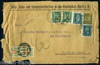 GERMANY FURTH 2/7/25 FRONT ONLY TO ST. MORITZ SWITZERLAND 2/9/25 W/ POSTAGE DUE