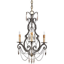 UNIQUE REGENCY GOLD CRYSTAL AND BEADED CHANDELIER