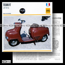 #010.03 Scooter TERROT 125 SCOOTER VM S2 1953 Fiche Moto Classic Motorcycle Card