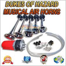 MUSICAL AIR HORNS, AIRHORNS 12V COMPRESSOR OPERATED DUKES OF HAZARD