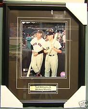 TED WILLIAMS & MICKEY MANTLE - FRAMED AND MATTED
