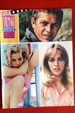 STEVE MCQUEEN/NATHALIE DELON ON COVER 1965 RARE VINTAGE EXYU MAGAZINE