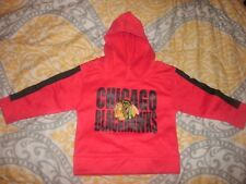 Chicago Blackhawks Fleece Hoodie Hoody RED Toddler size 4T (B110)