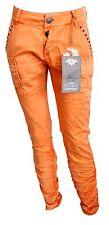 CREAM Stoffhose Jeans Gr. 34 38 40 orange gerafft lässig Hose W301 NEU Style