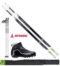 Atomic Mover X Langlauf-Ski L=183cm + Bindung + Schuhe + Stöcke + Skisack Skiset