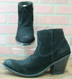 Liberty Black Womens Gamuza Ambra Rought Out Shortie Boots Ankle Suede 7.5 M