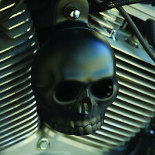 Skull Horn Cover. Satin black. Harley Davidson. SBS-2