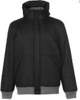 Lee Cooper Rib Padded Jacket Coat Full Zip Mens Size UK Small Black *REF86