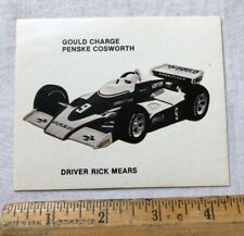 Vintage Rick Mears Indy Racing Decal Sticker Penske Cosworth Gould Charge