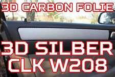 Mercedes Benz CLK W208 208 3D CARBON SILBER ZIERLEISTEN FOLIEN SET