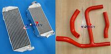 R&L aluminum Radiator & RED HOSE Suzuki RMZ250 RMZ 250 2010-2012 2011 10 11 12