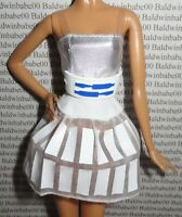 COCKTAIL C ~ BARBIE DOLL GOLD LABEL MODEL MUSE STAR WARS R2D2 SILVER WHITE DRESS