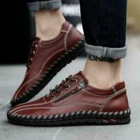Leather Retro Men Shoes Hiking Sneakers Loafers Driving Plus size 14 Mocassins