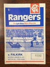 Rangers v Falkirk programme 1970/71