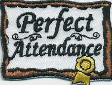 Girl Boy Cub PERFECT ATTENDANCE Award Fun Patches Crests Badges SCOUTS GUIDE