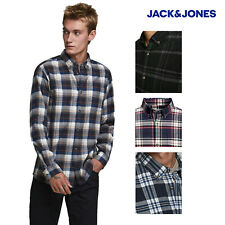 Jack & Jones Mens Classic Check Long Sleeve Button Down Casual Check Shirt