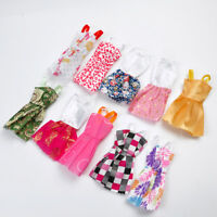 For Kids Toys Small Plastic Female Doll Clothes Dresses Handmade 10pcs / Set