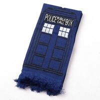 Doctor Who TARDIS Design Deluxe double-layer Soft Warm Knitted Scarf TOM BAKER