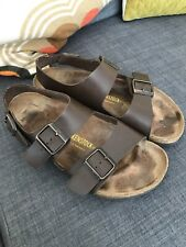 Birkenstock Brown Leather Jesus Sandal Size 41 Uk 8