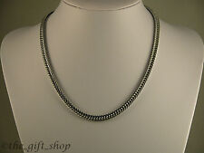 SUPERBE 18K WHITE GOLD FILLED 15'' 6MM FOXTAIL CHAIN GIFT #CWG1#