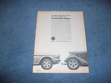 "1965 Fenton Mag Wheels Vintage Ad ""The Only Thing These Cars Have in Common..."""