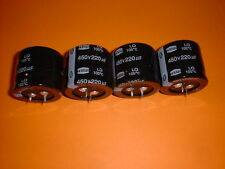 4x Elko 220µF / 450V 105°C 35x30mm 220uF Snap-In