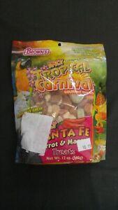 Brown's Spicy Tropical Carnival Gourmet Treats Santa Fe Parrot & Macaw 12 Oz #O