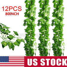 12pcs Artificial Fake Hanging Ivy Vine Leaf Garland Plants Leaves Like Real Home