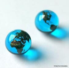 "2 X 12 MM (0.5 ""), Blue Earth Globe GLASS MARBLES-Orecchino Gioielli rendendo pietre"