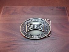 U.S .SNIPER Special Forces - Brass Plated Belt Buckle